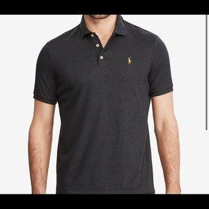 Men's Polo Dark Granite Heather Shirt Size M